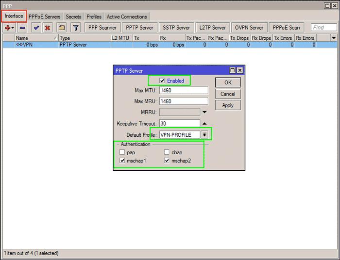VPN PPTP Mikrotik