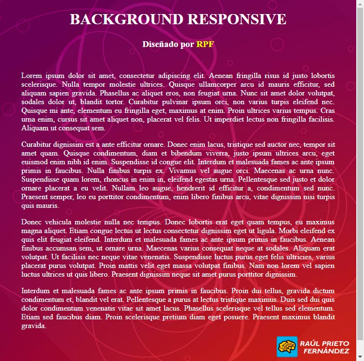 Background Responsive