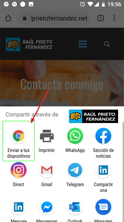 Compartir páginas Google Chrome