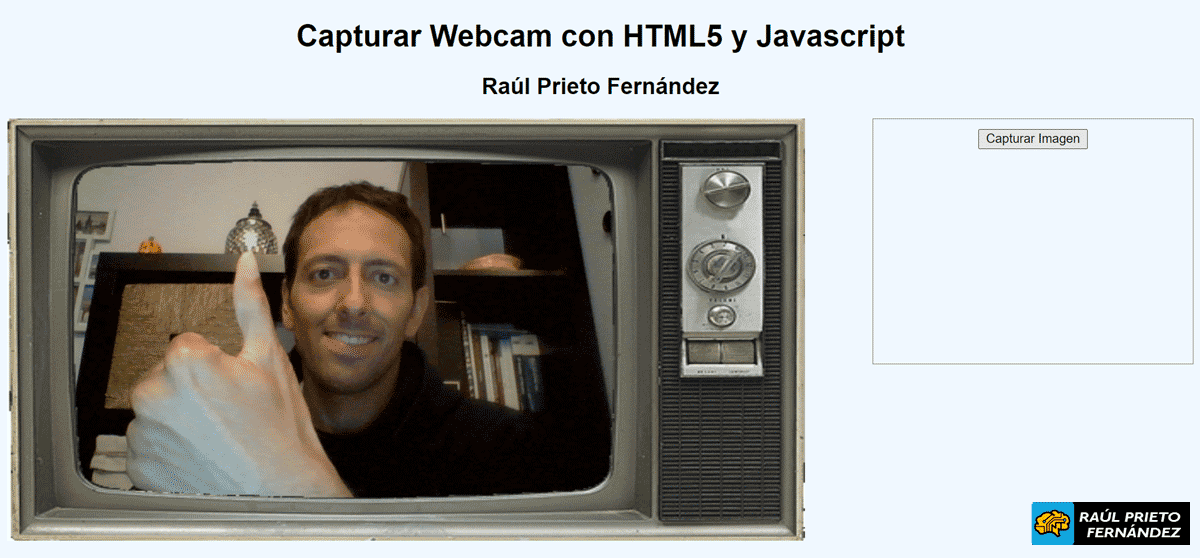 Webcam HTML5 y Javascript
