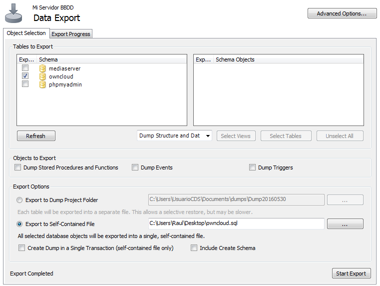 Export & Import Workbench