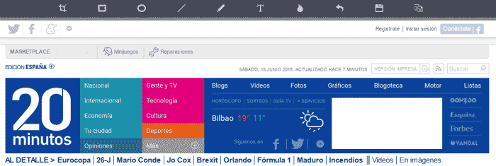 Screenshot Web Completa
