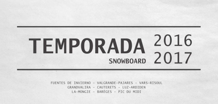 ⋆ Video Temporada Snowboard 2016-2017